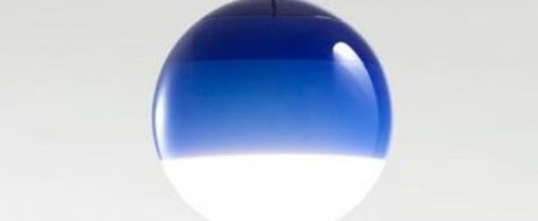 Suspension dipping light 20 bleu led 2700k 500lm o20cm cm marset normal