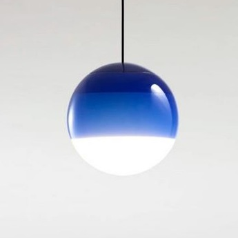 Suspension dipping light 20 bleu led 2700k 500lm o20cm cm marset normal