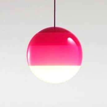 Suspension dipping light 20 rose led 2700k 1019lm o30cm cm marset normal