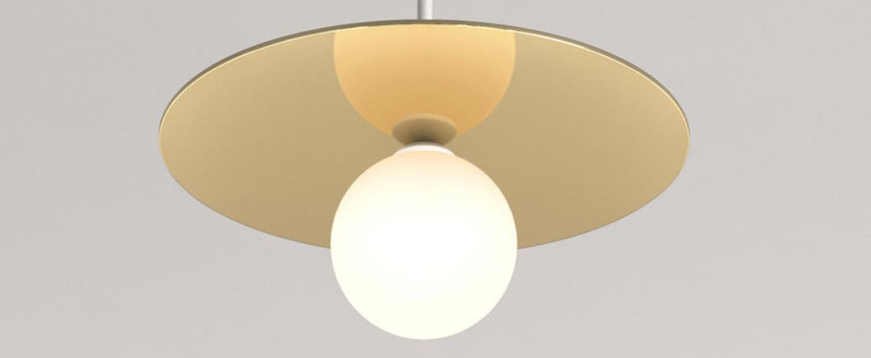 Suspension disc and sphere blanc tissu blanc o23cm h61 5cm atelier areti normal