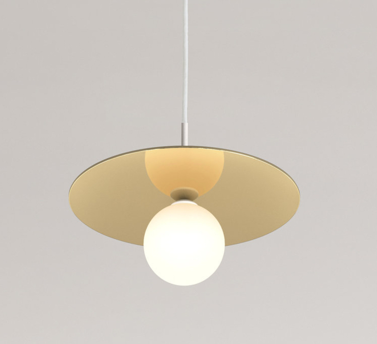 Disc and sphere blanc tissu gwendolyn et guillane kerschbaumer suspension pendant light  areti disc and sphere fabric cable  design signed nedgis 64217 product