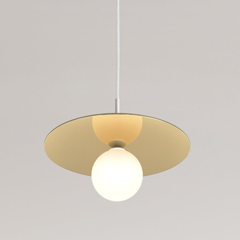 Suspension disc and sphere blanc tissu blanc o23cm h61 5cm atelier areti normal