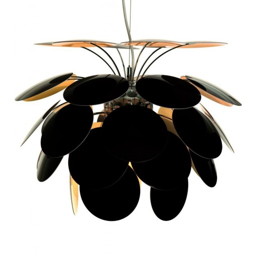 Suspension discoco noir et or 35cm marset for Suspension luminaire noir et or