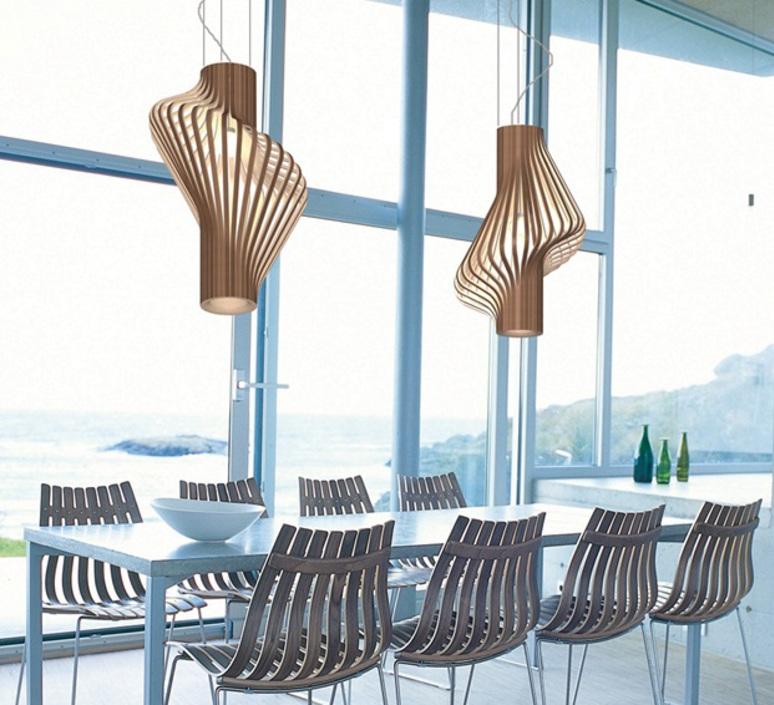 Diva peter natedal et thomas kalvatn egset suspension pendant light  norhtern lighting 381 391 walnut  design signed 45438 product