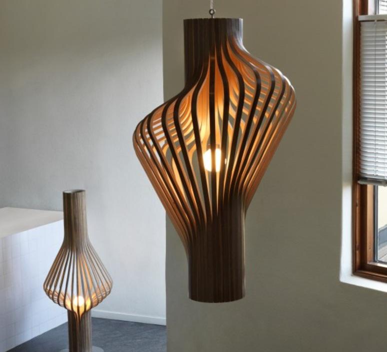Diva peter natedal et thomas kalvatn egset suspension pendant light  norhtern lighting 381 391 walnut  design signed 45439 product