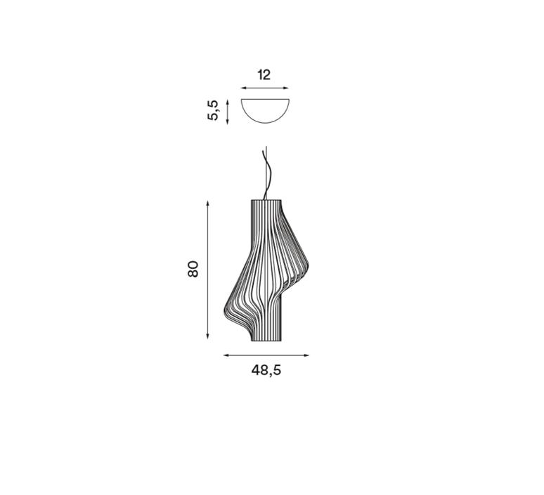 Diva peter natedal et thomas kalvatn egset suspension pendant light  norhtern lighting 381 391 walnut  design signed 45441 product