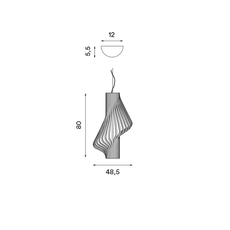 Diva peter natedal et thomas kalvatn egset suspension pendant light  norhtern lighting 381 391 walnut  design signed 45441 thumb