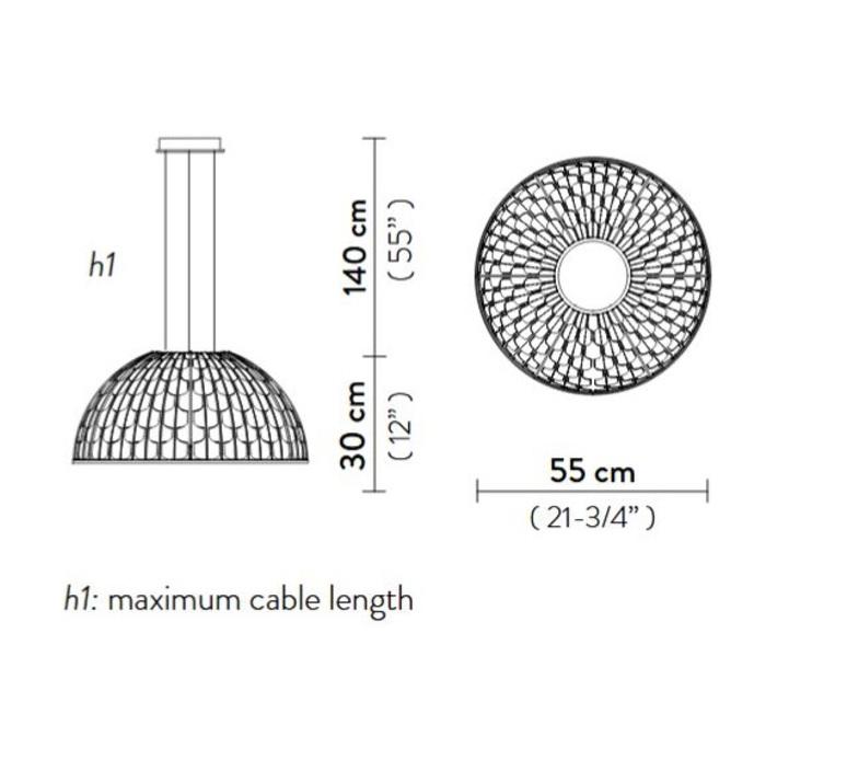 Dome m analogia project suspension pendant light  slamp dom94sos0001b 000  design signed nedgis 66289 product