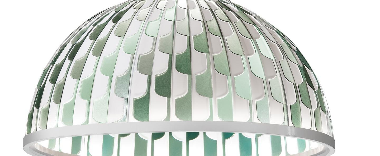 Suspension dome m vert led 2700k 1600lm o55cm h30cm slamp normal