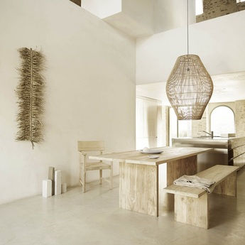 Suspension dome naturel o40cm h60cm tine k home normal