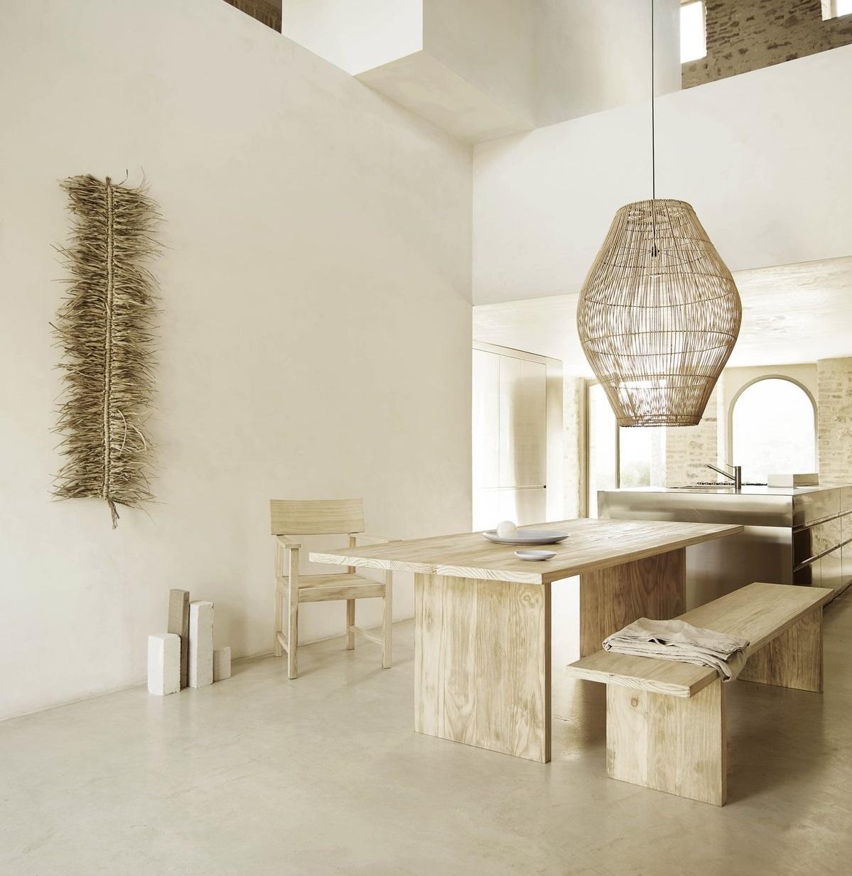 abat jour dome naturel 40cm h60cm tine k home. Black Bedroom Furniture Sets. Home Design Ideas