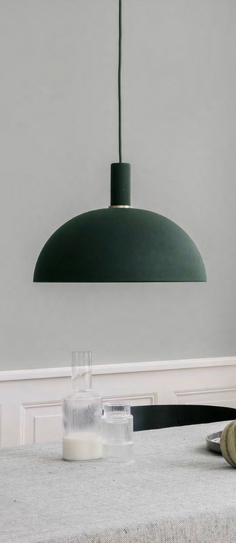 Suspension dome shade vert o38cm h16cm ferm living normal