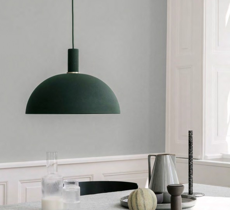Pendant light dome shade green 38cm h16cm ferm living dome shade suspension pendant light ferm living 5129 5139 design signed 36922 product aloadofball Images