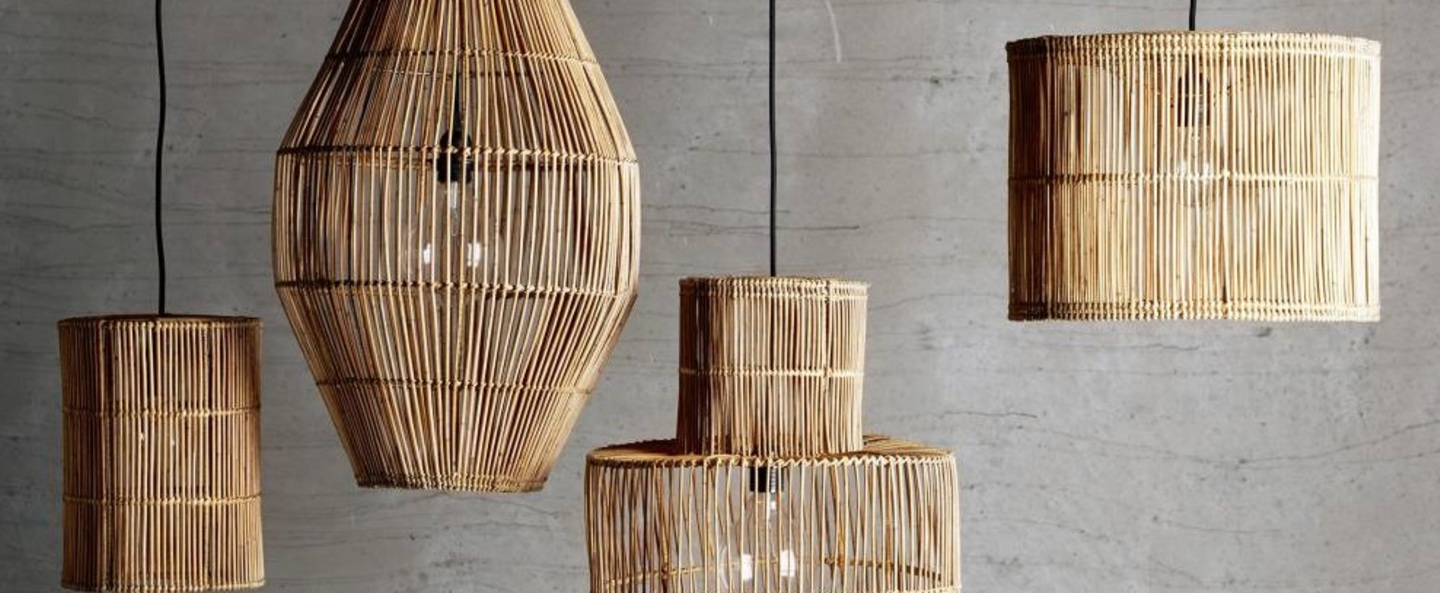 Suspension dome xxl naturel o80cm h120cm tine k home normal
