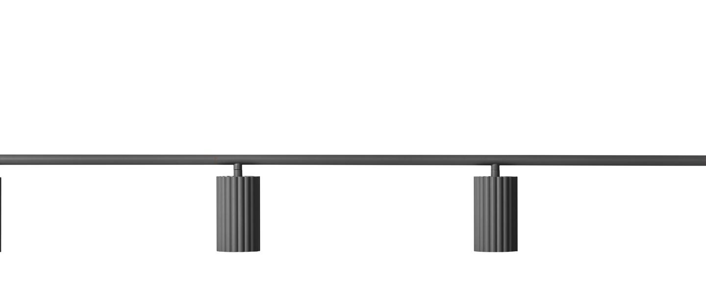 Suspension donna line 120 noir l120cm h15cm pholc normal