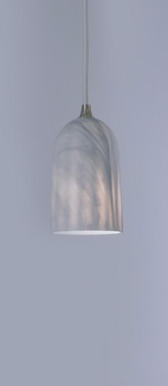Suspension doric 8 marbre blanc led o8cm h14cm innermost normal