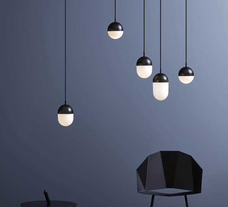 Dot pendant s  suspension pendant light  woud 133010  design signed 37541 product