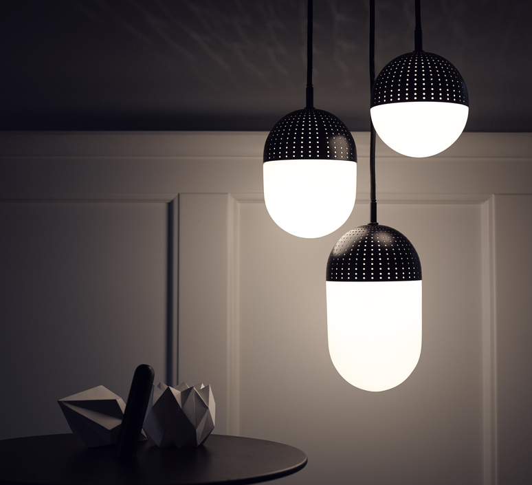 Dot pendant s  suspension pendant light  woud 133010  design signed 37542 product