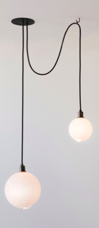 Suspension drap 1 noir lcm h30cm sklo studio normal