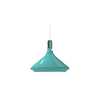 Suspension driyos 2 turquoise blanc led o50cm h28cm zava normal