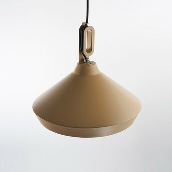 Suspension driyos 3 beige blanc led o21cm h21cm zava normal