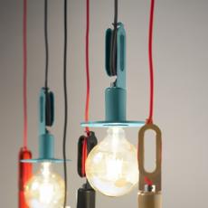 Driyos naked studio delineodesign suspension pendant light  zava driyosnaked pendantlamp pastelturquoise ral6034  design signed 36449 thumb