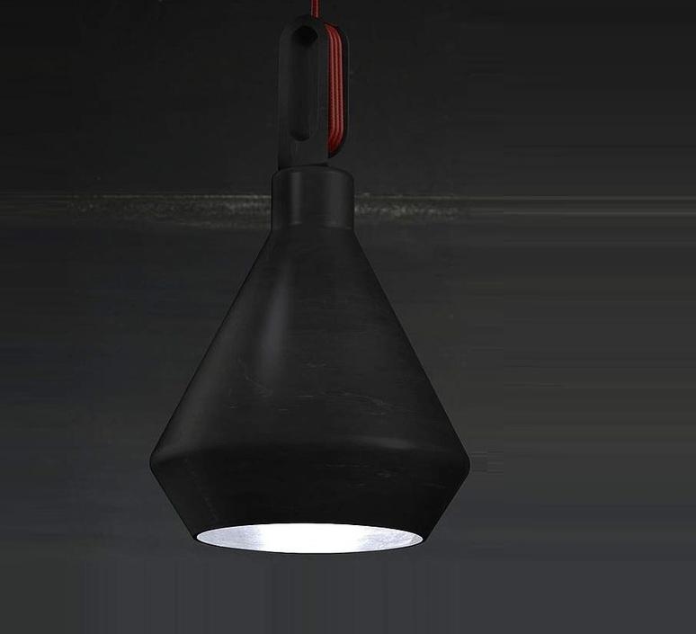 Driyos delineodesign zava driyos suspension h21cm blue iron cable scarlet red rayon luminaire lighting design signed 17577 product