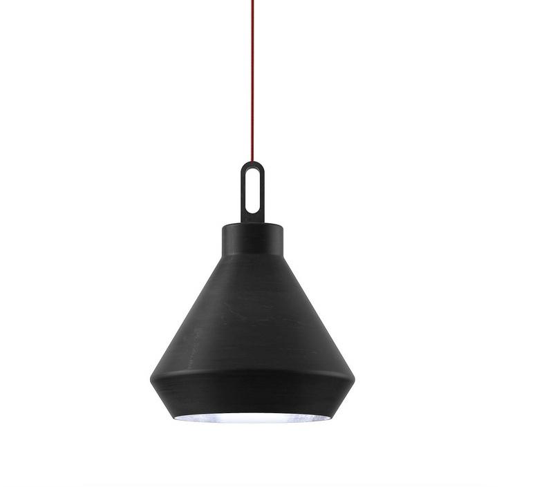 Driyos delineodesign zava driyos suspension h21cm blue iron cable scarlet red rayon luminaire lighting design signed 17580 product