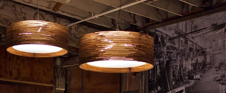 Suspension drum marron o45cm graypants normal