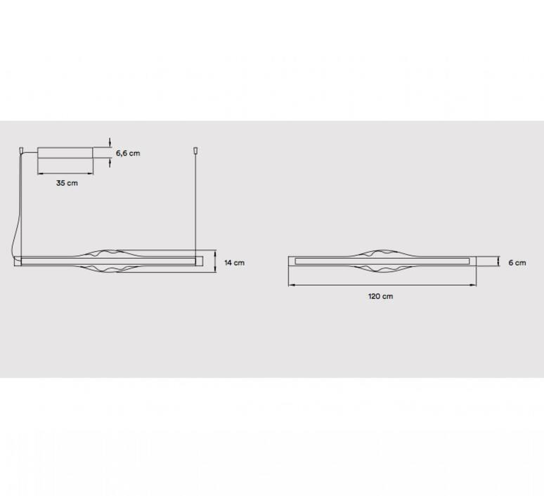 Dune s studio mayice suspension pendant light  lzf dune s 120 led dim0 10v 20  design signed nedgis 96339 product