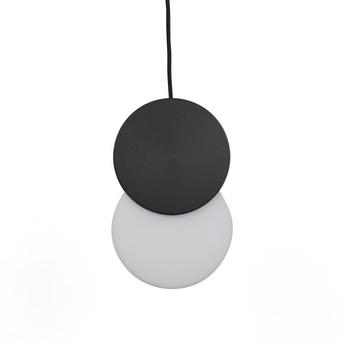 Suspension duo noir blanc led 3000k 300lm l20cm h31cm eno studio normal