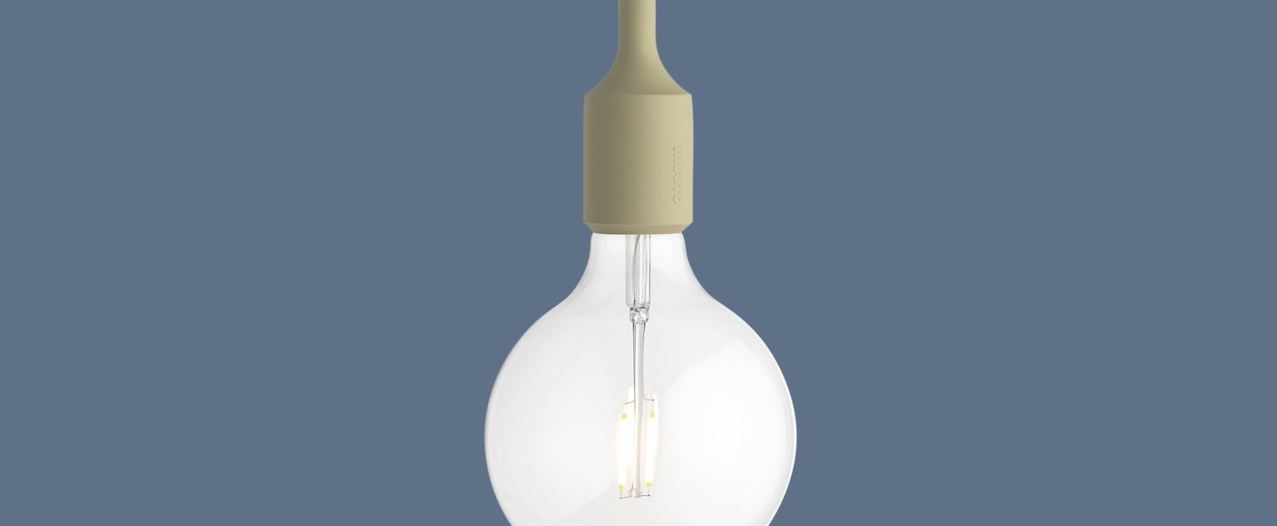 Suspension e27 beige led o12 5cm h23cm muuto normal