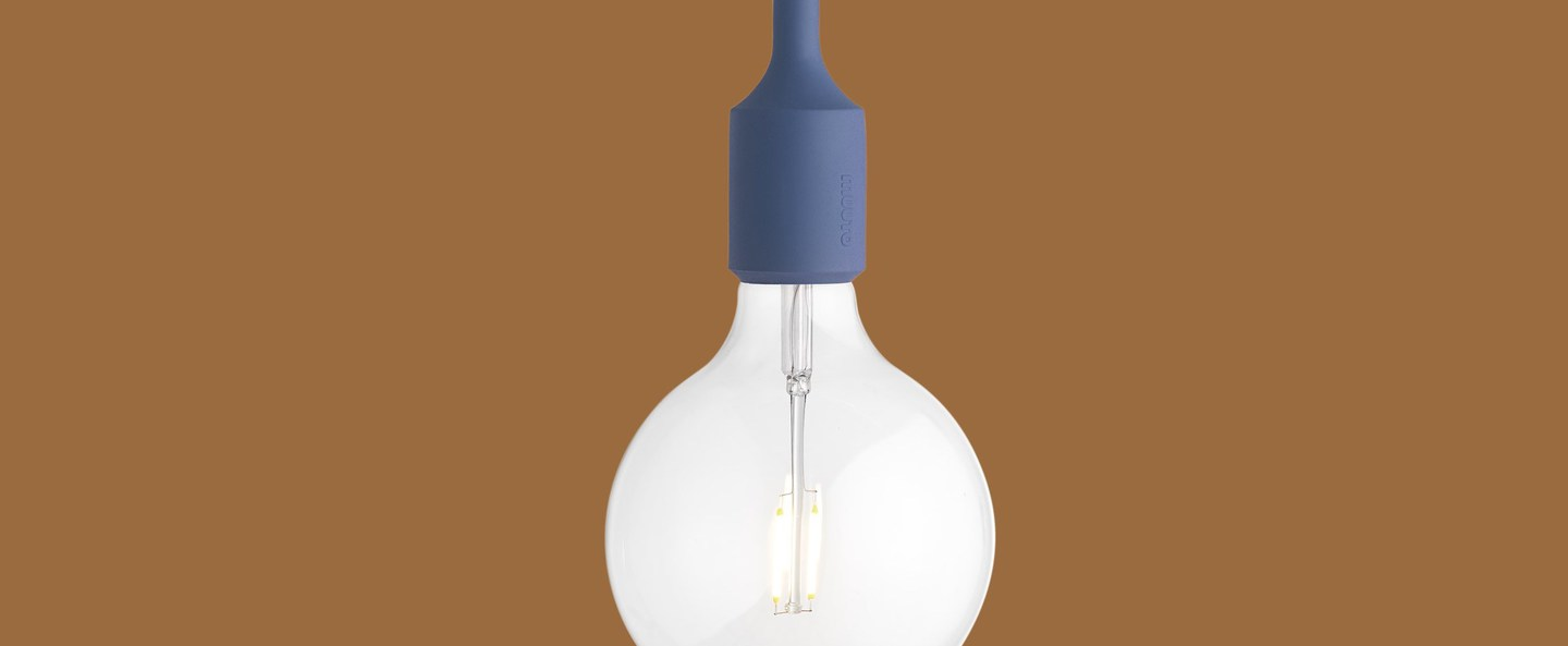 Suspension e27 bleu clair led o12 5cm h23cm muuto normal