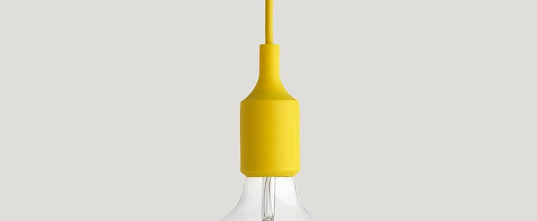 Suspension e27 jaune led h23cm o12 5cm muuto normal