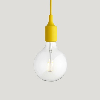 Suspension e27 jaune led h23cm o12 5cm muuto normal