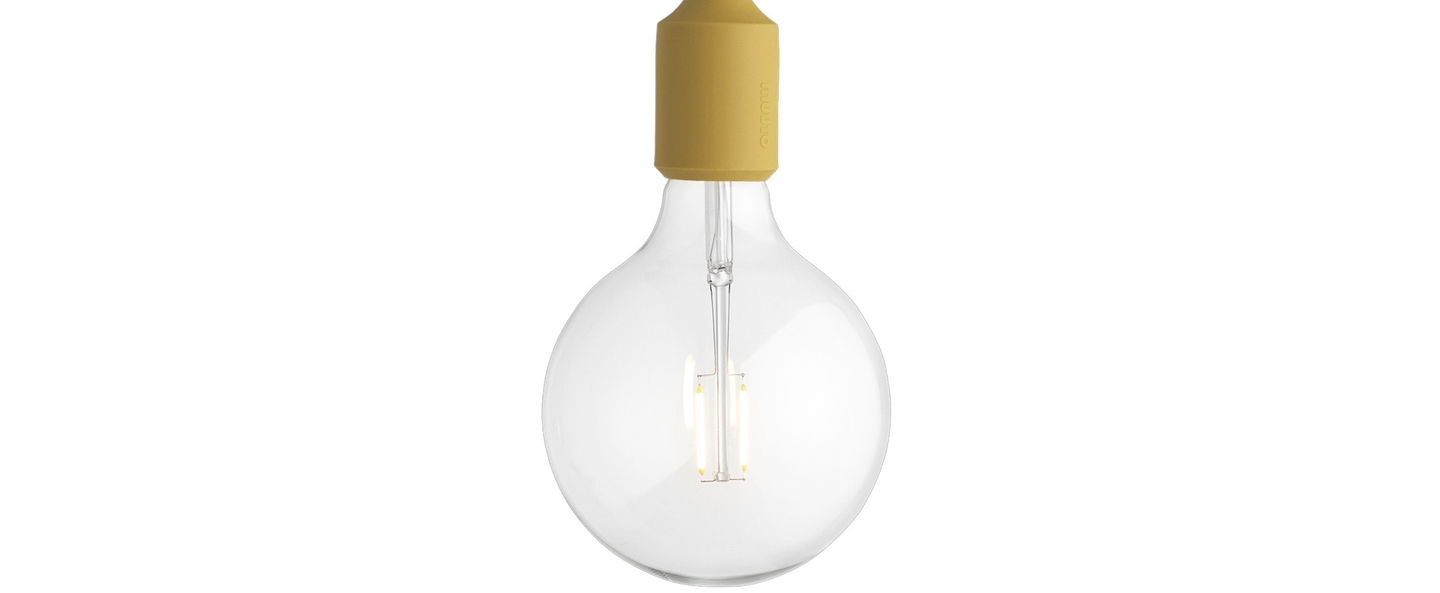 Suspension e27 moutarde led h23cm o12 5cm muuto normal
