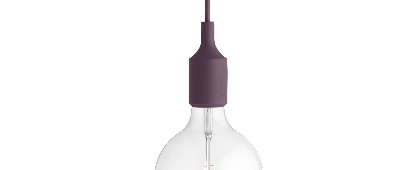 Suspension e27 violet led o12 5cm h23cm muuto normal