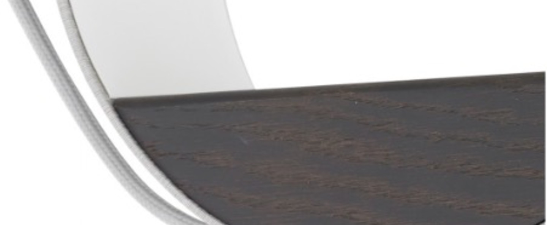 Suspension eau de lumiere 2 ronds led gris blanc chene h23cm designheure normal