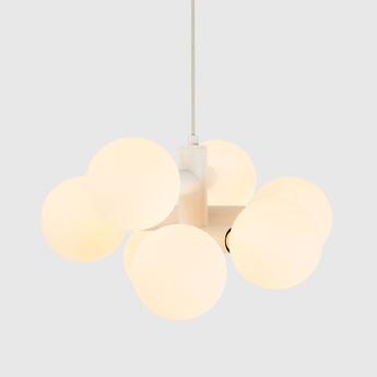 Suspension echo chandelier blanc l50cm h45cm tala normal