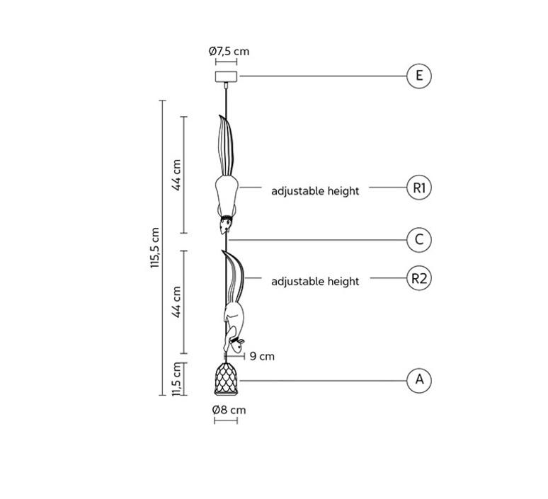 Sherwood e robin matteo ugolini suspension pendant light  karman se151 bb int  design signed 81159 product