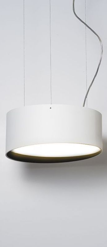 Suspension edgar round s blanc led 3000 k 1550 lm o28cm h11 5cm dark normal