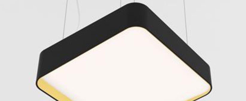 Suspension edgar square s noir led 3000 k 1350 lm o30 4cm h11 5cm dark normal