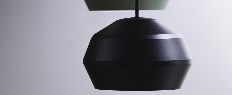 Suspension edge noir o20cm h15cm pholc normal