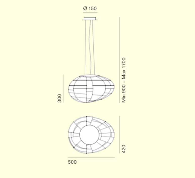 Egg enrico franzolini suspension pendant light  palluco eggs 5 30232  design signed 47784 product