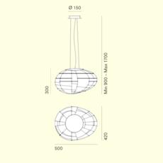 Egg enrico franzolini suspension pendant light  palluco eggs 5 30232  design signed 47784 thumb