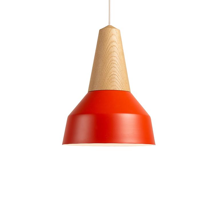 Eikon basic julia mulling et niklas jessen suspension pendant light  schneid eikon basic oak poppy red white canopy  design signed nedgis 106472 product