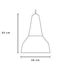 Eikon basic julia mulling et niklas jessen suspension pendant light  schneid eikon basic oak poppy red white canopy  design signed nedgis 106473 thumb