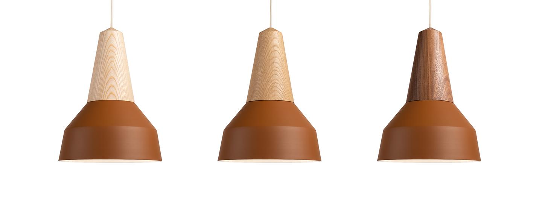 Suspension eikon basic frene et amber o26cm h35cm schneid normal