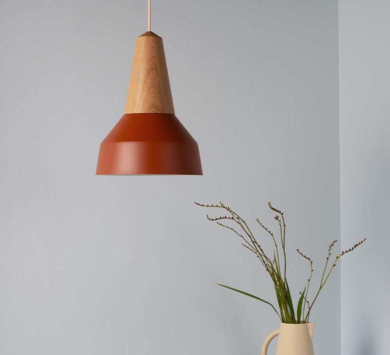 Eikon basic julia mulling et niklas jessen suspension pendant light  schneid eikon basic walnut amber white canopy  design signed nedgis 106495 product