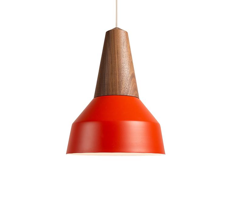 Eikon basic julia mulling et niklas jessen suspension pendant light  schneid eikon basic walnut poppy red white canopy  design signed nedgis 106604 product